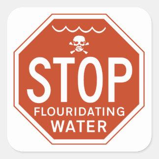 FLUORIDATING水を-フッ化物か実行主義または抗議ストップ スクエアシール