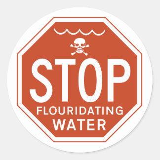 FLUORIDATING水を-フッ化物か実行主義または抗議ストップ ラウンドシール