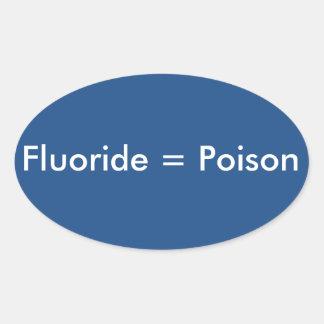 Fluoride=Poison 楕円形シール