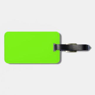 Fluoroのレトロのライム緑のコレクション ラゲッジタグ