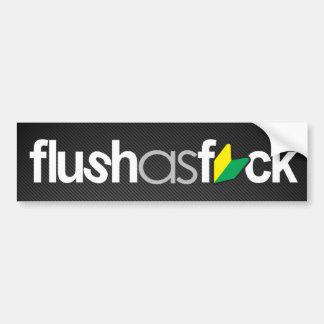flushasfck (模造のなカーボン繊維) バンパーステッカー
