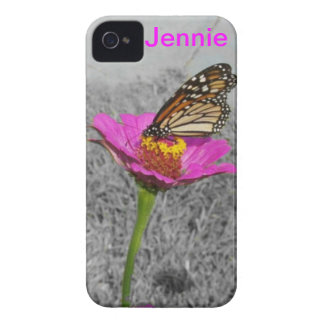 Flutterbyの蝶iphone 4ケースの*personalize* Case-Mate iPhone 4 ケース