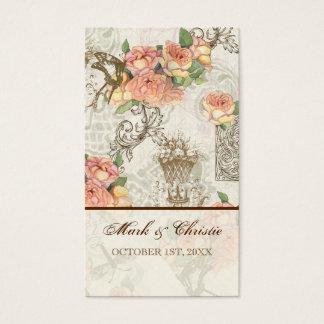 Flutterbyes 「nのバラのエレガントな結婚式 名刺