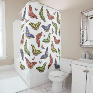 Flutterbys シャワーカーテン