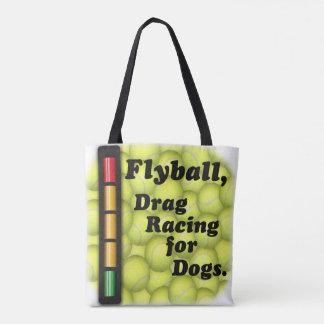 Flyballは犬のために競争するドラッグです! トートバッグ