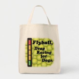 Flyballは犬のために競争するドラッグ食料雑貨のトートです トートバッグ