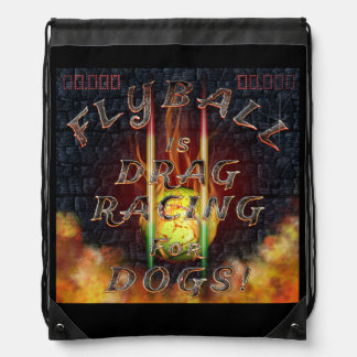 Flyball Flamz: 犬のために競争するドラッグ! ナップサック