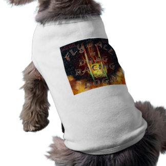 Flyball Flamz: 犬のために競争するドラッグ! 犬のタンクトップ ペット服