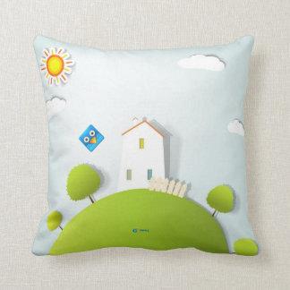 FlyBirdie -枕-家および山 クッション