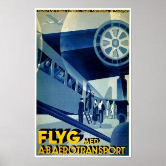 FlygのA-Bの航空機の輸送のヴィンテージ旅行広告 ポスター