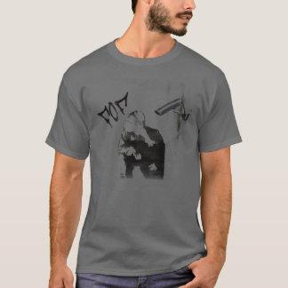 Flyheadの落書きのステンシル Tシャツ
