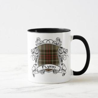 Flynnのタータンチェックの盾 マグカップ
