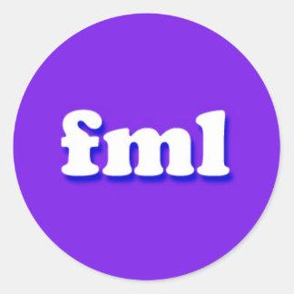 fmlのインターネットのテキストメッセージ句 ラウンドシール