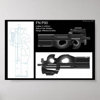 FN P90 Statシート ポスター