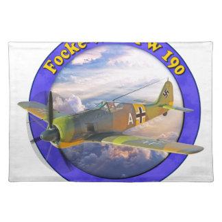 Focke Wulf Fw 190戦争の鳥の飛行機Plaine WarBird ランチョンマット