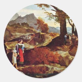 FohrカールPhilipp著イタリアのロマンチックな景色 ラウンドシール