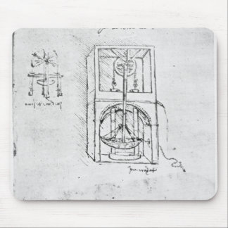 Fol。 パリの原稿B 1488-90年からの54r マウスパッド