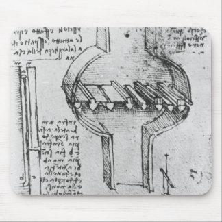 Fol。 原稿E 1513-14年からの34r マウスパッド