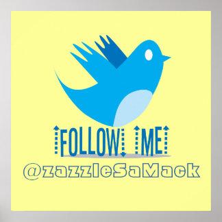 FOLLOWMEの@zazzleSaMack ポスター