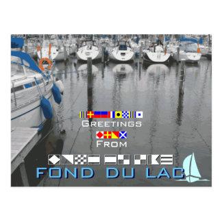 fond Du LacウィスコンシンWIからの挨拶 ポストカード