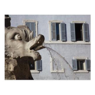 Fontana de la Pantheonの魚の詳細 ポストカード