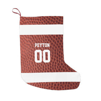 Football Texture Personalized Stocking スモールクリスマスストッキング