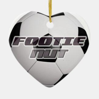 Footieのフットボールのナット セラミックオーナメント