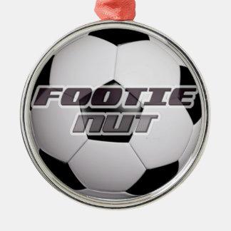 Footieのフットボールのナット メタルオーナメント
