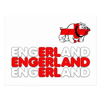 footy Engerland ポストカード