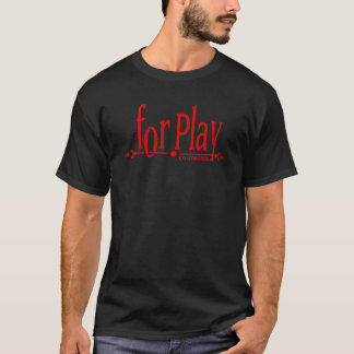 For.Playの化粧品-赤いロゴ Tシャツ