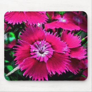 Foralのピンクのナデシコの花園 マウスパッド