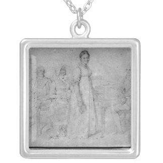 Forestier家族1806年 シルバープレートネックレス