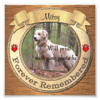 Forever Remembered Personalized Pet Memorial フォトプリント