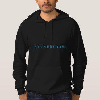 Forgivestrongの黒いフード付きスウェットシャツ パーカ