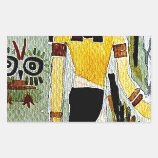 forheatanubis.jpg Anubisエジプトのフクロウ 長方形シール