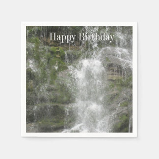 Forillonの国立公園のLaシュートの滝 スタンダードカクテルナプキン