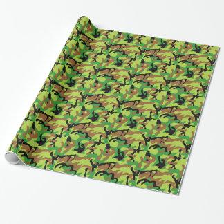 Forrestの熱狂するな緑の迷彩柄 ラッピングペーパー