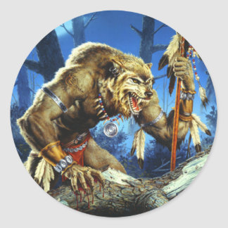 Forrestの狼人間のシャーマン ラウンドシール