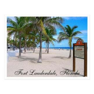 Fort Lauderdaleのビーチのフロリダの郵便はがき ポストカード