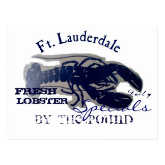 Fort Lauderdaleの新しいロブスター ポストカード