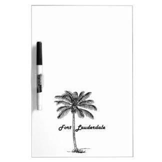 Fort Lauderdale及びやし白黒デザイン ホワイトボード