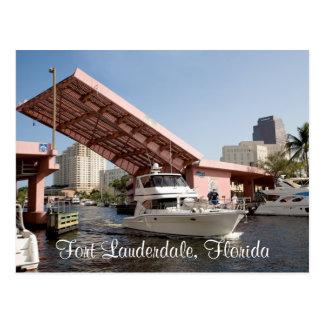 Fort Lauderdale湾、フロリダのピンク橋 ポストカード