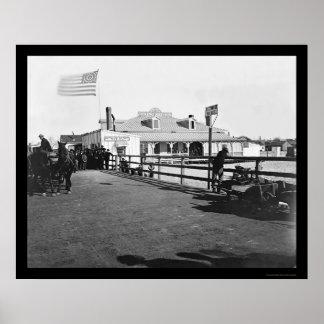 Fort Monroe 1864年で大広間を食事するHygeia ポスター