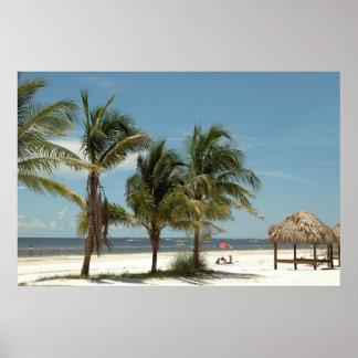 Fort Myersのビーチフロリダ ポスター