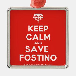 Fostino穏やか、保存保って下さい メタルオーナメント