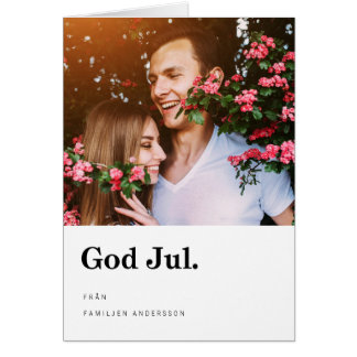 Foto Julkort |モダンなTypografi カード