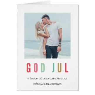 Foto Julkort | Ljusaのochのfärgrika カード