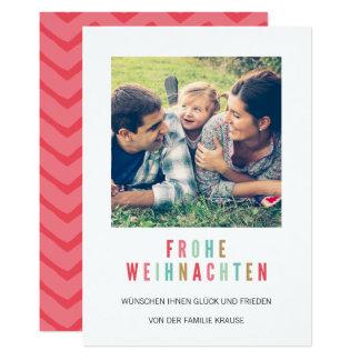 Foto Weihnachtskarte | Bunte Weihnachten カード