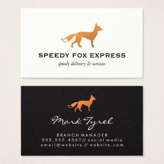 Fox Icon (Black & White) 名刺