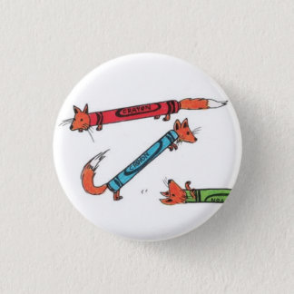 Foxcrayonボタン 3.2cm 丸型バッジ